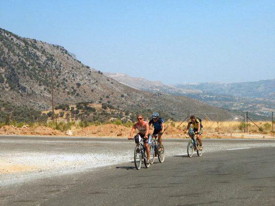 fietsen op Kreta